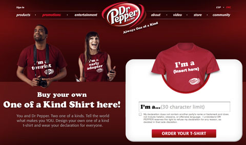 dr pepper engagement promotion