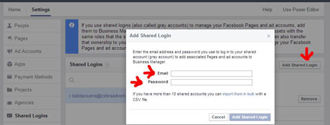 connecting grey accounts to facebook business manager