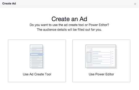 facebook ad platform options