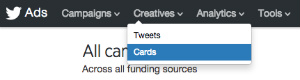 creatives twitter menu options