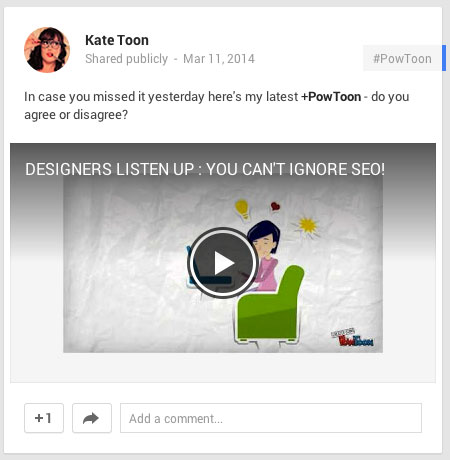 powtoon video on google+