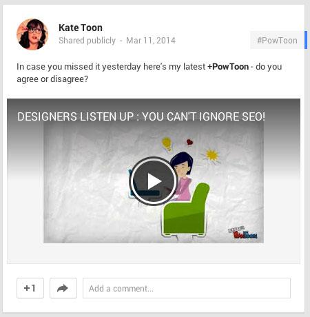 powtoon video on google+