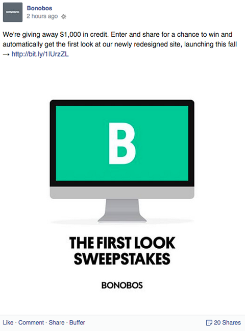 bonobos promotion with email entry