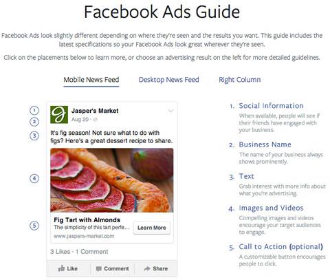 facebook mobile ad specs
