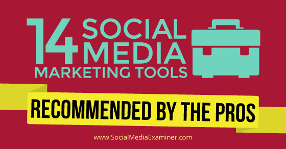 14 Social Media Marketing Tools Recommended by the Pros |