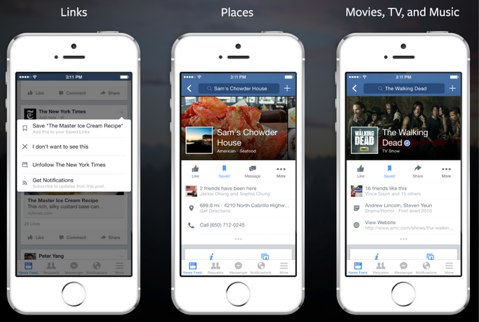 facebook save feature home