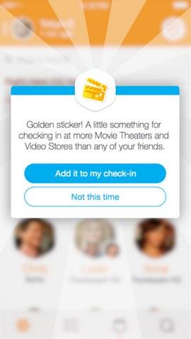 foursquare golden sticker