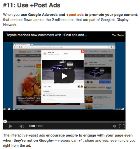 popular social media examiner google+ article