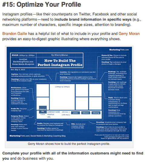 popular social media examiner instagram article
