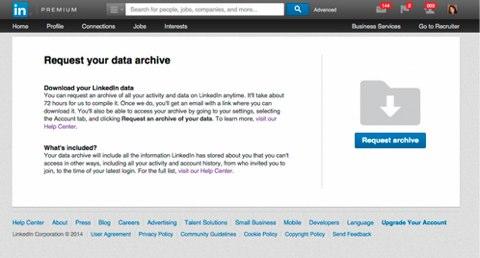 linkedin data archive