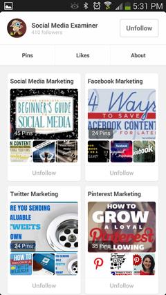 social media examiner on pinterest mobile