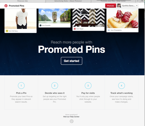 Image result for pinterest sponsored pins