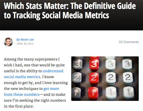kevan lee metric article