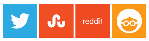 logos for twitter stumbleupon reddit outbrain
