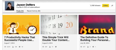 linkedin publisher articles