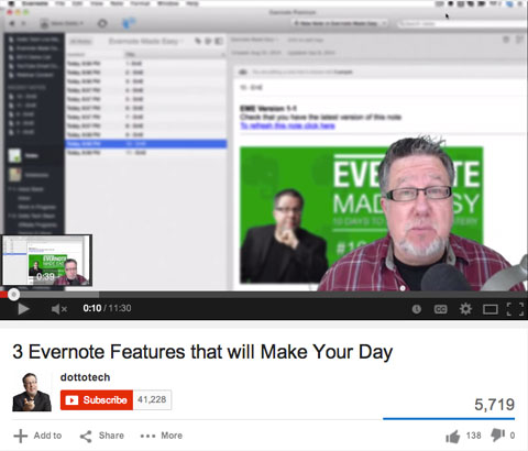 evernote video