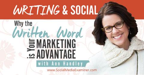 social media examiner podcast writing and social
