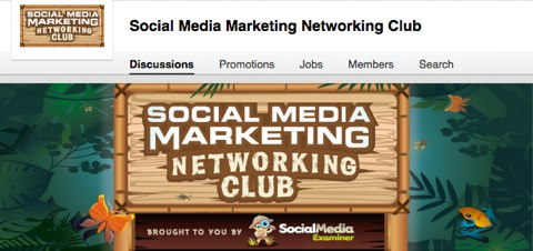 social media marketing networking club header