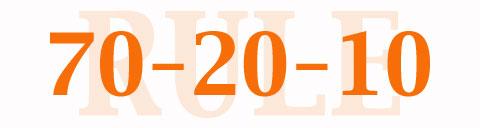 70 20 10 rule