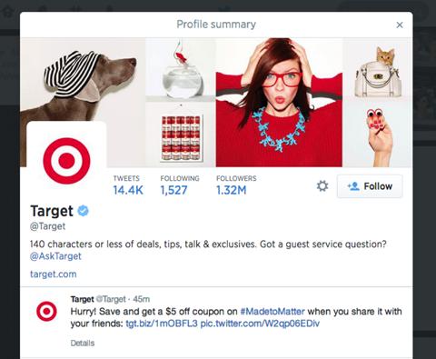 target tweet