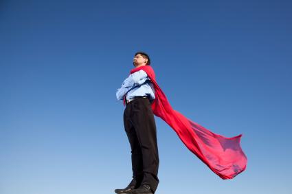 man in cape