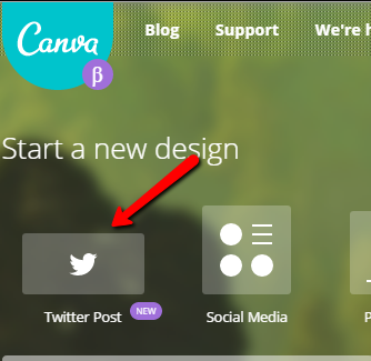canva menu