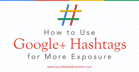 use google+ hashtag