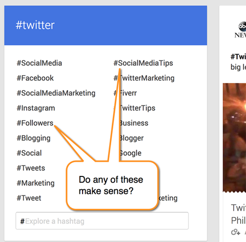 How to use hashtags on google plus