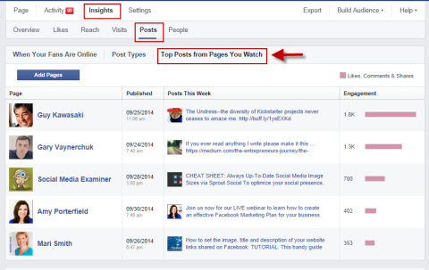 pages to watch on facebook