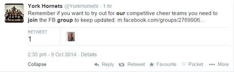 yorkhornets tweet