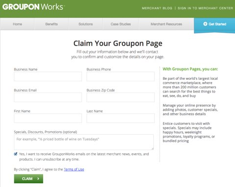 groupon page
