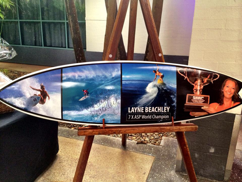layne beachley surf board