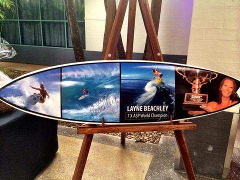 layne beachley surf board