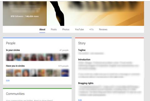 google plus profile settings