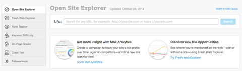 moz open site explorer tool