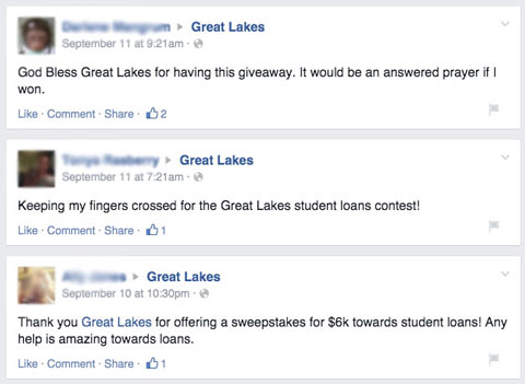 great lakes fans thank you posts