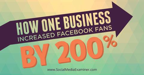 increasing facebook fans by 200%