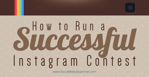 run an instagram contest