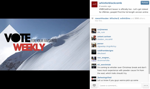 whistler black comb instagram contest