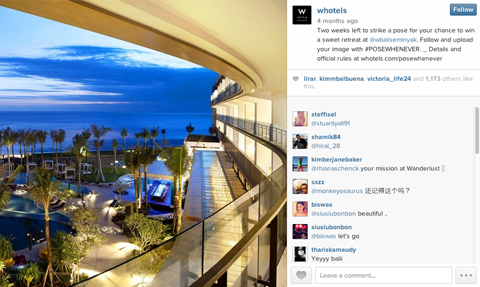 whotels instagram contest