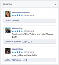 reviews on facebook