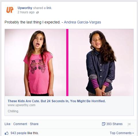 facebook click bait link without descriptive information