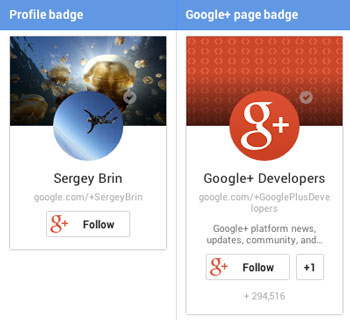 g+ profile page badges