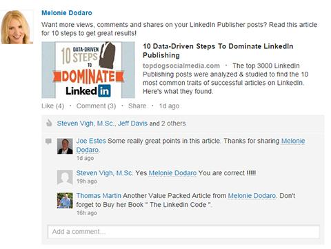 linkedin content share