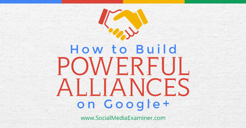 building alliances on google+
