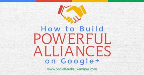 building alliances on google+