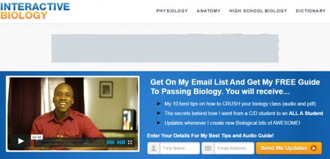 Leslie's first blog, Interactive Biology, presented individual biology concepts in short videos.
