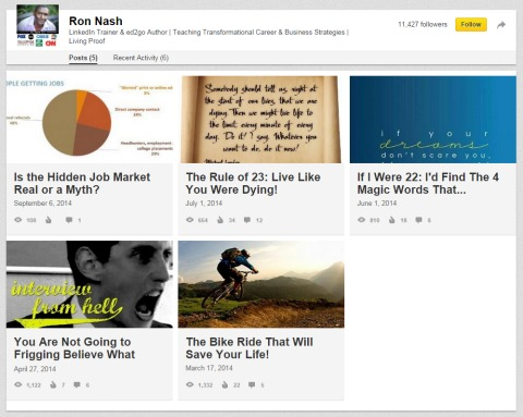 LinkedIn's publishing feature allows everyone to publish content to its network. How is yours standing out?