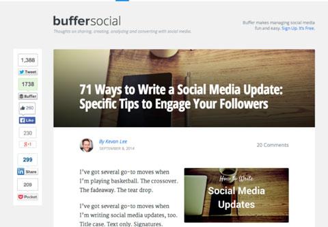 buffer blog social shares