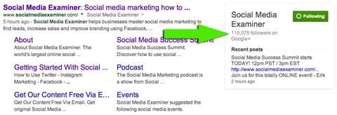 social media examiner in google search